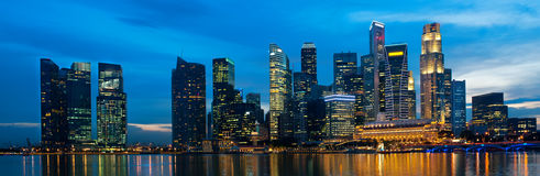 Singapore skyline at night. Stock Images