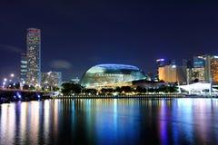 Singapore skyline night Stock Images