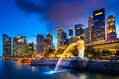 Singapore skyline at night. Singapore skyline at night  in singapore Royalty Free Stock Image