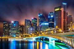 Singapore skyline at night. Singapore skyline at night  in singapore Stock Photos