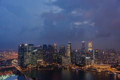 Singapore skyline at night Royalty Free Stock Photography