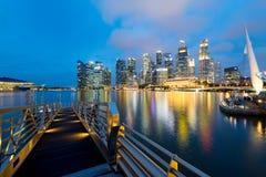 Singapore Skyline at night. Royalty Free Stock Photos