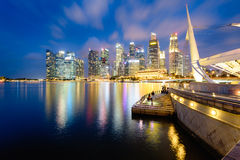 Singapore Skyline at night. Royalty Free Stock Photo