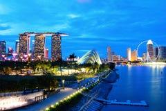 Singapore skyline at night. Singapore city skyline at night Stock Photo
