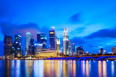 Singapore skyline at night Stock Photo