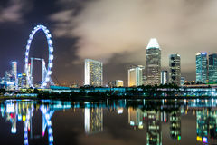 Singapore skyline at night Stock Photography