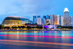 Singapore skyline at night Royalty Free Stock Images
