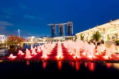 Singapore Skyline at night. Stock Photo
