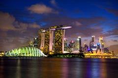 Singapore skyline at night. Landscape of singapore at night Stock Photography