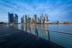 Singapore Skyline at night. Royalty Free Stock Photography