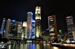 Singapore Skyline by Night Stock Photos