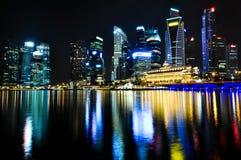 Singapore Skyline by Night Stock Photo