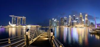 Singapore Skyline at night. Royalty Free Stock Image