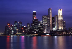 Singapore Skyline night view. Singapore Skyline during the night view Royalty Free Stock Images
