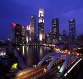 Singapore Skyline night view Royalty Free Stock Images