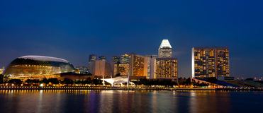 Singapore skyline at night. Royalty Free Stock Image