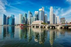 Singapore skyline over Marina Bay Stock Photography