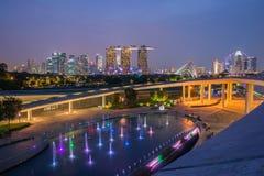 Singapore skyline Stock Photos