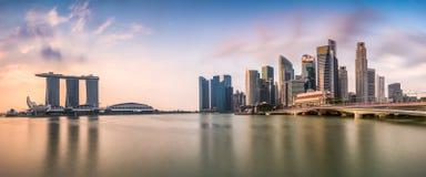 Singapore Skyline Panorama Stock Photo