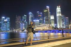 Singapore skyline photographer Stock Photography