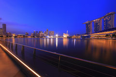 Singapore Skyline and Reflections Royalty Free Stock Photos