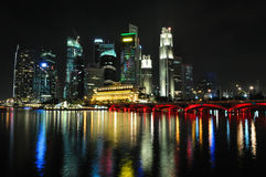 Singapore skyline and river Stock Photo