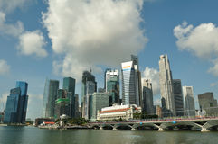 Singapore skyline and river Royalty Free Stock Image