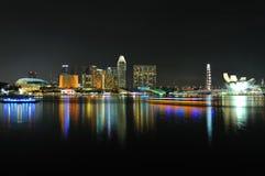 Singapore skyline and river Stock Photo