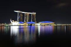 Singapore skyline and river Stock Image