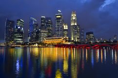 Singapore skyline and river Royalty Free Stock Photos