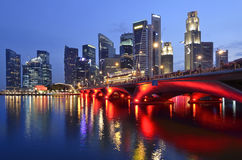 Singapore skyline and river Royalty Free Stock Images