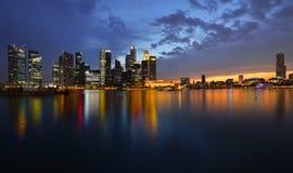 Singapore skyline and river Royalty Free Stock Photos
