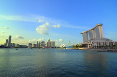 Singapore skyline and river Stock Image