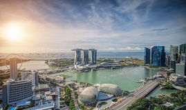 Singapore Skyline. Singapore`s business district Stock Photo