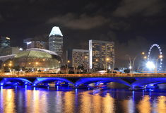 Singapore Skyline and Singapore river Stock Photo