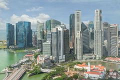 Singapore Skyline. Singapore`s business district. Stock Photos