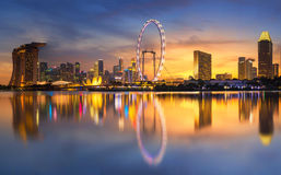 Singapore Skyline. Singapore `s business district Royalty Free Stock Photo