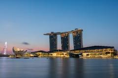 Singapore Skyline at sunrise. Stock Images