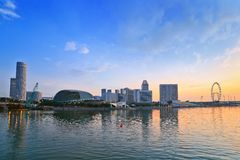 Singapore cityscape when sunrise Stock Images