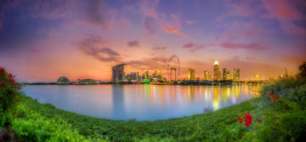 Singapore Skyline at sunset Stock Photo