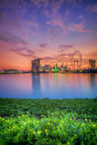Singapore Skyline at sunset Stock Image