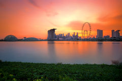 Singapore Skyline at sunset Royalty Free Stock Photography