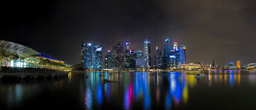 Singapore Skyline at sunset Stock Photography