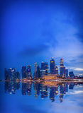 Singapore skyline and view of the financial district Stock Photos