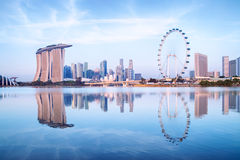Singapore Skyline. View from the Garden by the Bay Stock Photography