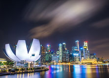Singapore Skyline and view of Marina Bay.  Stock Image