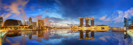 Singapore Skyline and view of Marina Bay. Singapore Skyline and view of skyscrapers on Marina Bay Stock Image