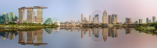Singapore Skyline and view of Marina Bay. Singapore Skyline and view of skyscrapers on Marina Bay royalty free stock photography