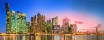 Singapore Skyline and view of Marina Bay. Singapore Skyline and view of skyscrapers on Marina Bay stock photo