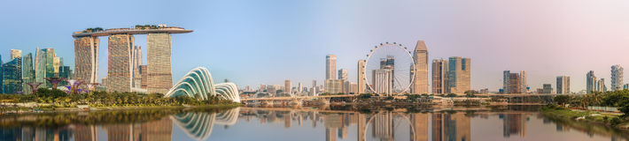 Singapore Skyline and view of Marina Bay Stock Image